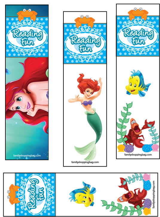 Free Printables For Disney S Animated Movie The Little Mermaid