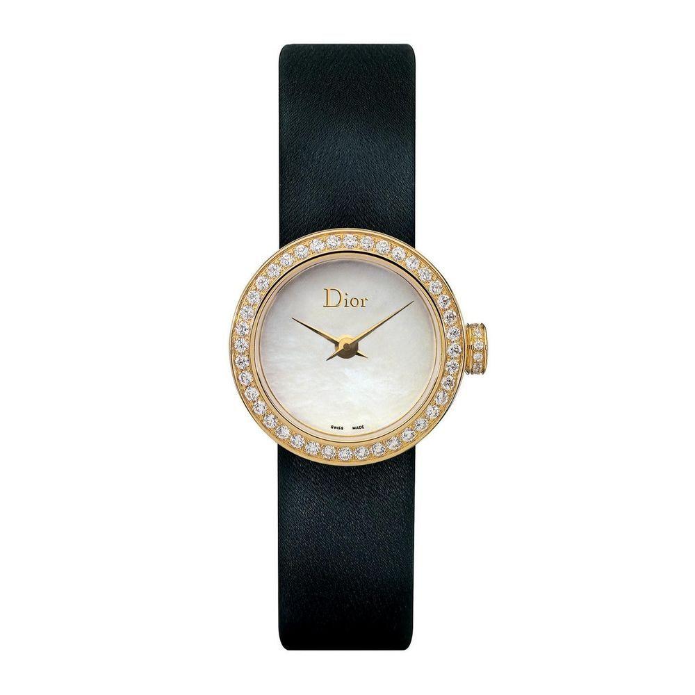 NEW! Christian Dior 'La D De Dior' 18K Gold Diamonds 19mm watch CD040150A001 #ChristianDior