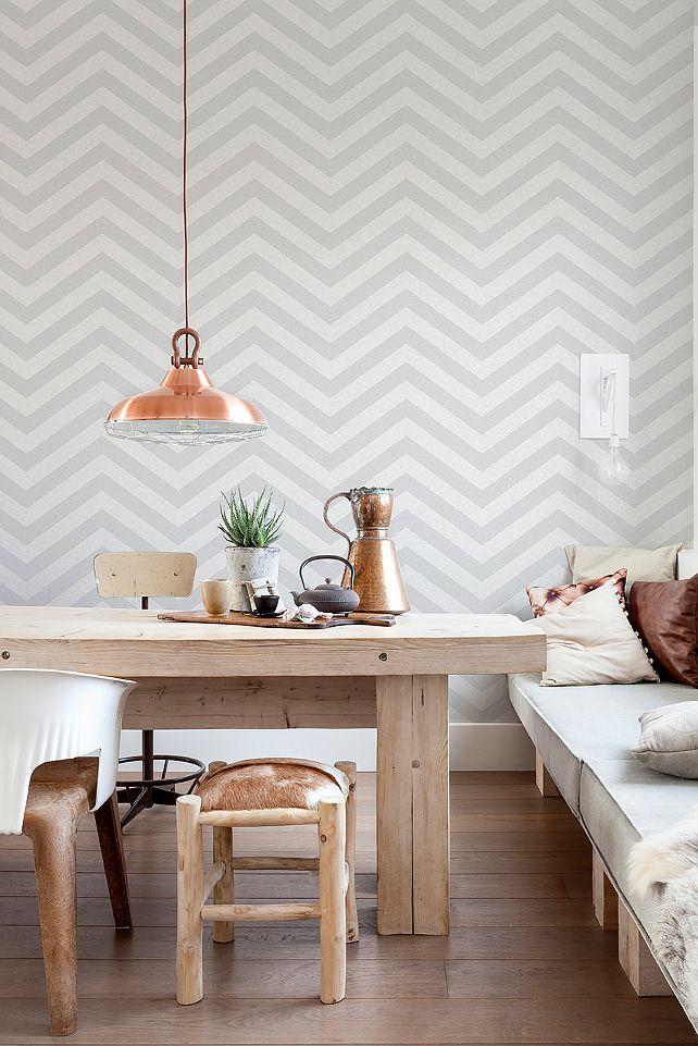 Geometric wallpapers to love Tapeten, Rückwand und Esszimmer - fliesen tapete küche