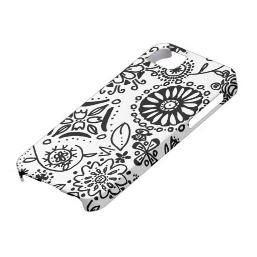 Crazy Flower Drawing Iphone 5 Cover Is For The Doodling Free