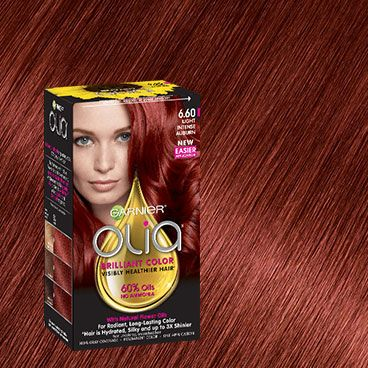 Olia 6 60 Light Intense Auburn Red Hair Color Hair Color Dyed Red Hair