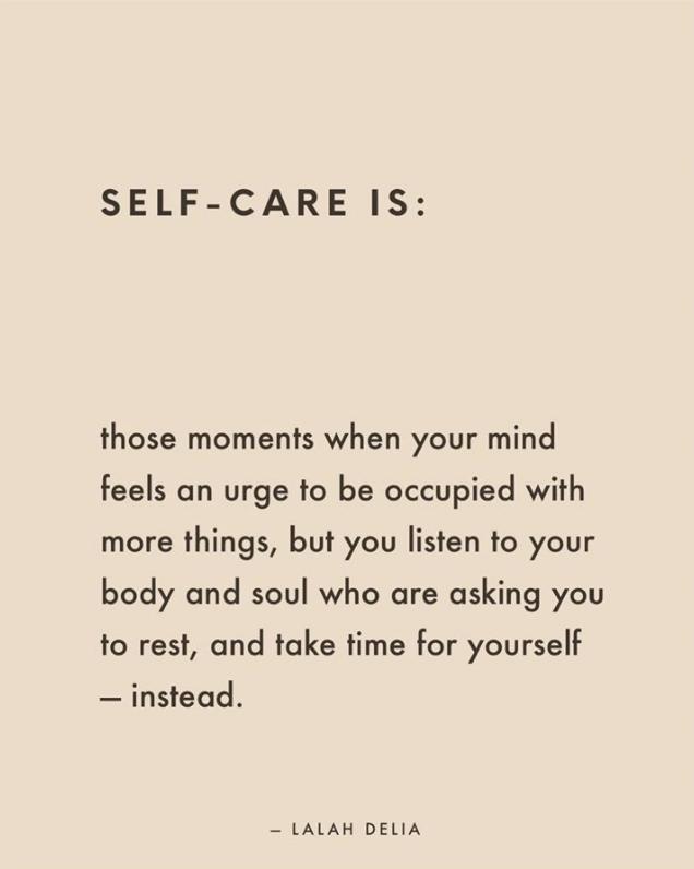 Dear Self: Self-Care isn't Selfish