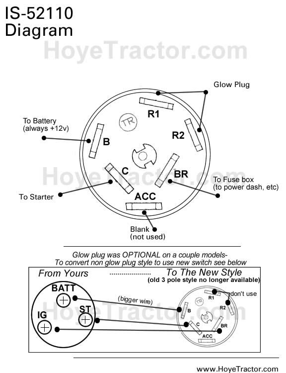 6 wire ignition switch wiring diagram ignition switch wiring diagram from 6 wire to 4 wire tractor light switch wiring diagram - google search ... #13