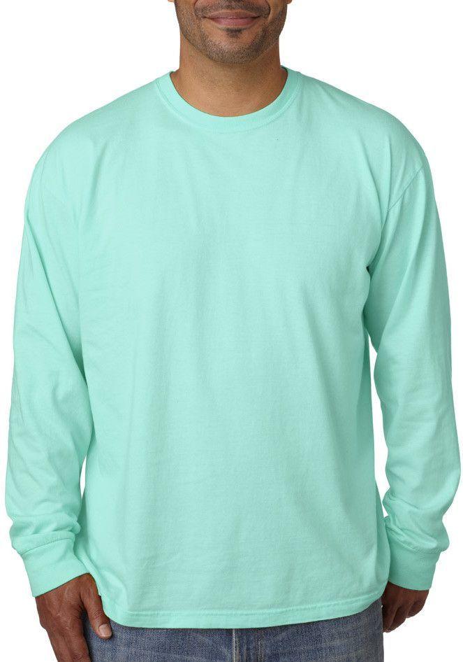 1601db5b comfort colors adult long-sleeve tee - chalky mint pgmdye (s ...