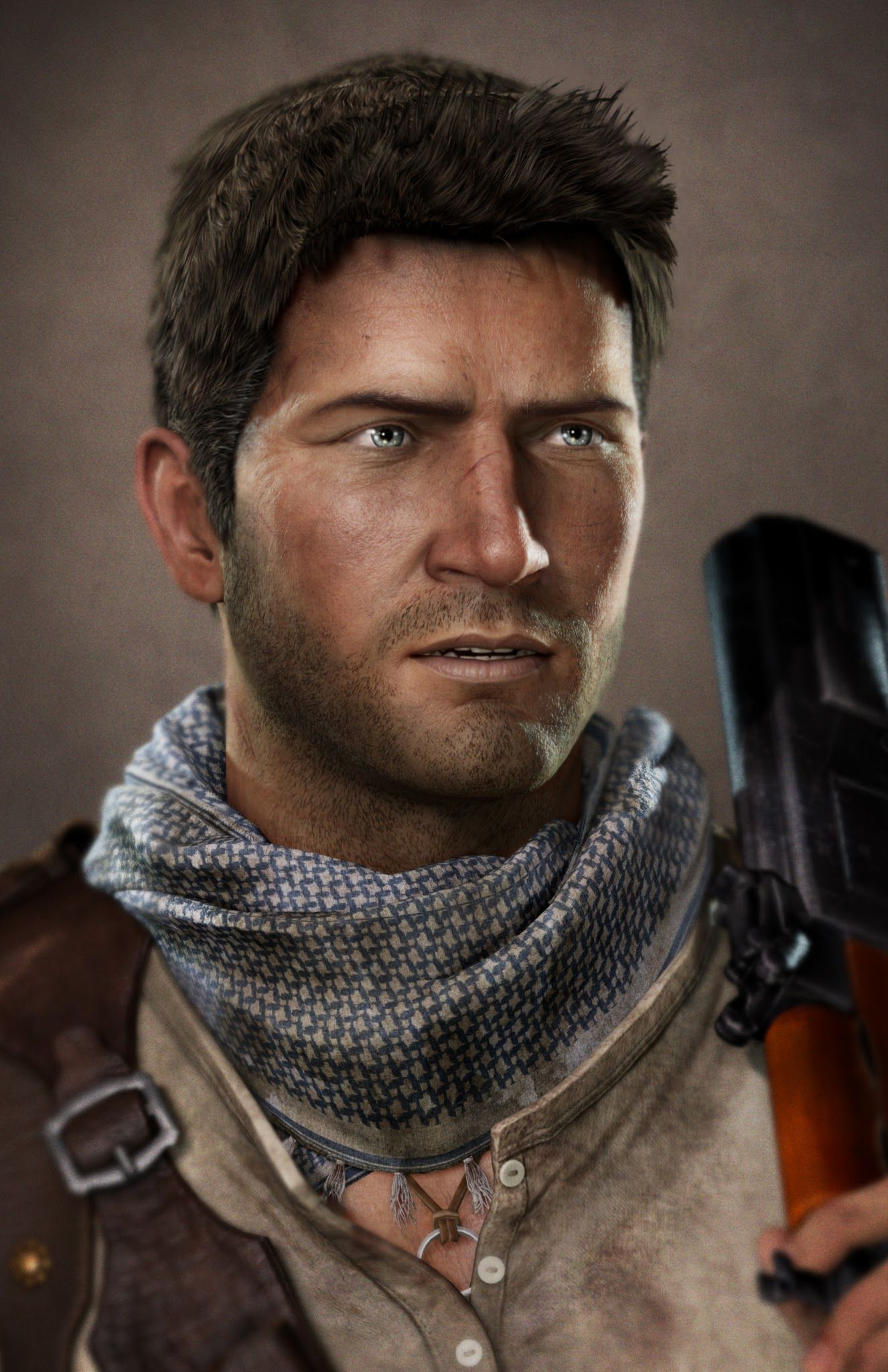 Uncharted 3 Portraits Heros Nathan Drake Uncharted Uncharted Game