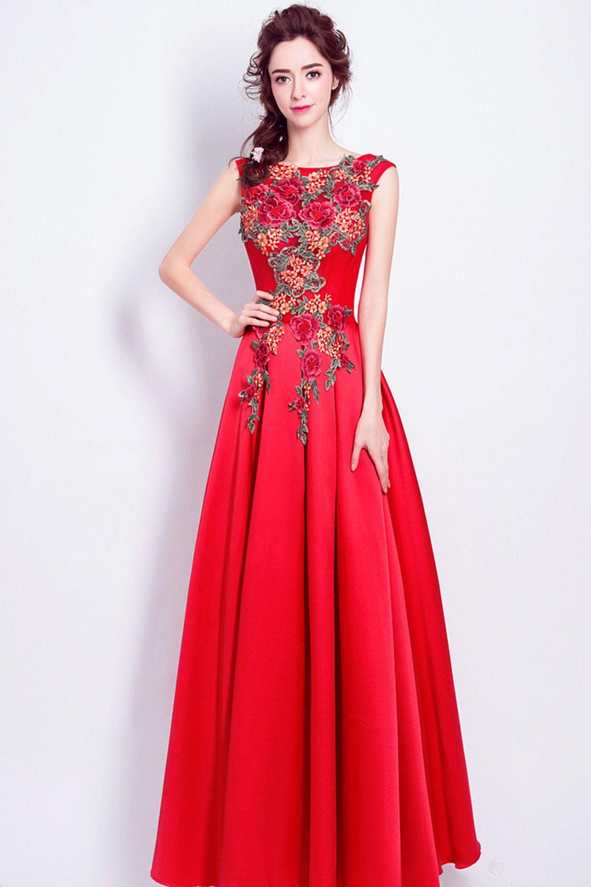Beautiful red chiffon prom dress | Gowns | Pinterest | Red chiffon ...