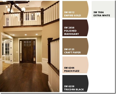 Stained trim and wall color best wall colors for stained for Dark interior paint colors