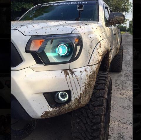 2012-2015 Toyota Tacoma Retrofitted Headlights - American
