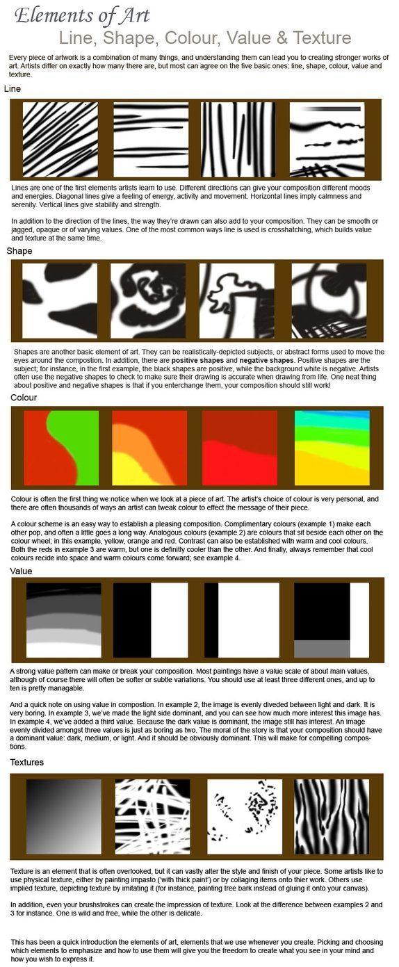 Elements Of Art Art Worksheets Elements Of Art Line [ 1391 x 574 Pixel ]