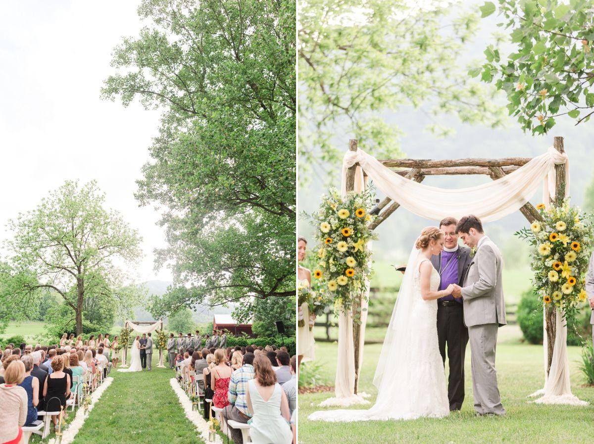 A Summer Sundara Wedding In Boones Mill Virginia Outside Wedding