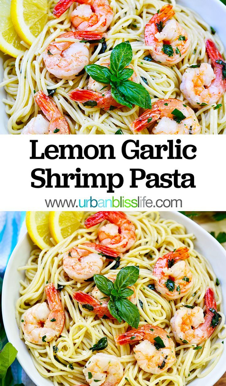 Lemon Garlic Shrimp Pasta - #Garlic #Lemon #pasta #Shrimp #garlicshrimprecipes