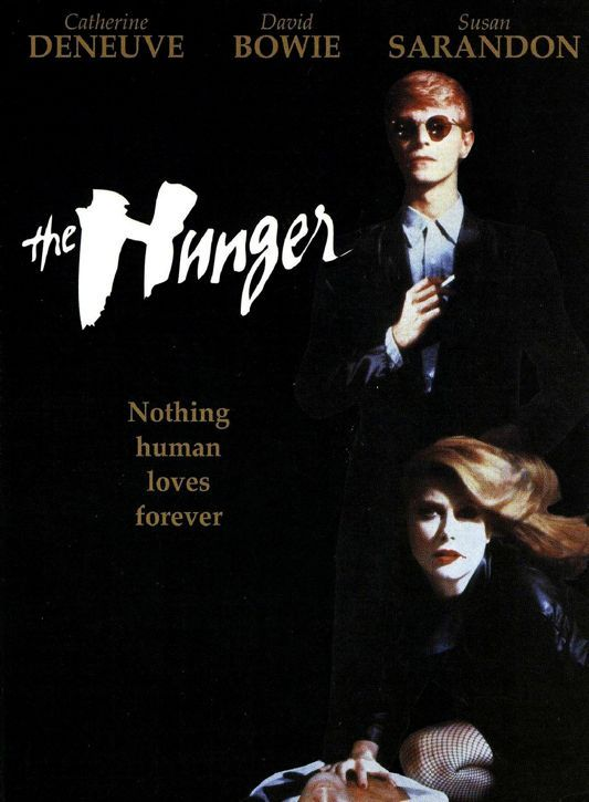 The Hunger (1983) dir. by Tony Scott starring Catherine Denueve, Susan Sarandon, and David Bowie.