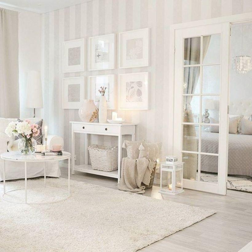 15 Attractive Modern Living Room Design Ideas: Beautiful Striped Walls Living Room Designs Ideas (8