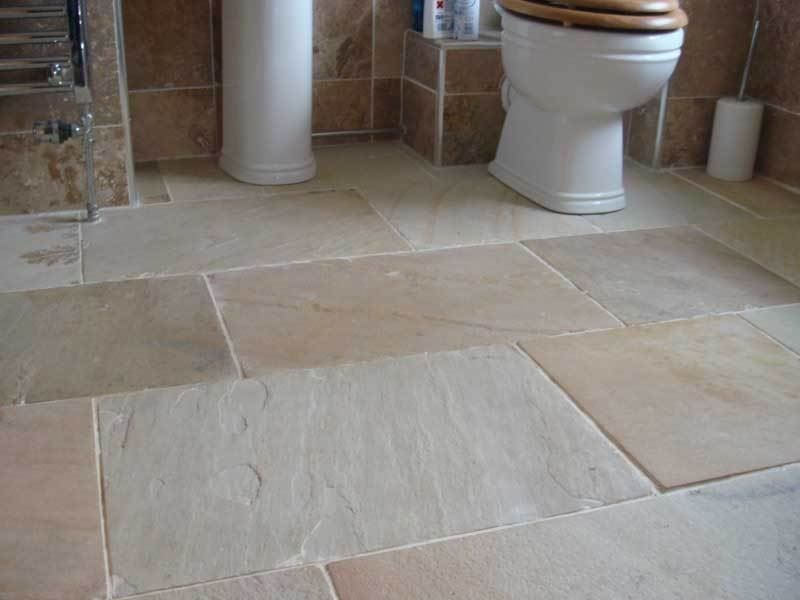 Tumbled Aged Beige York Stone Sandstone Flagstones Slabs Tiles | New ...