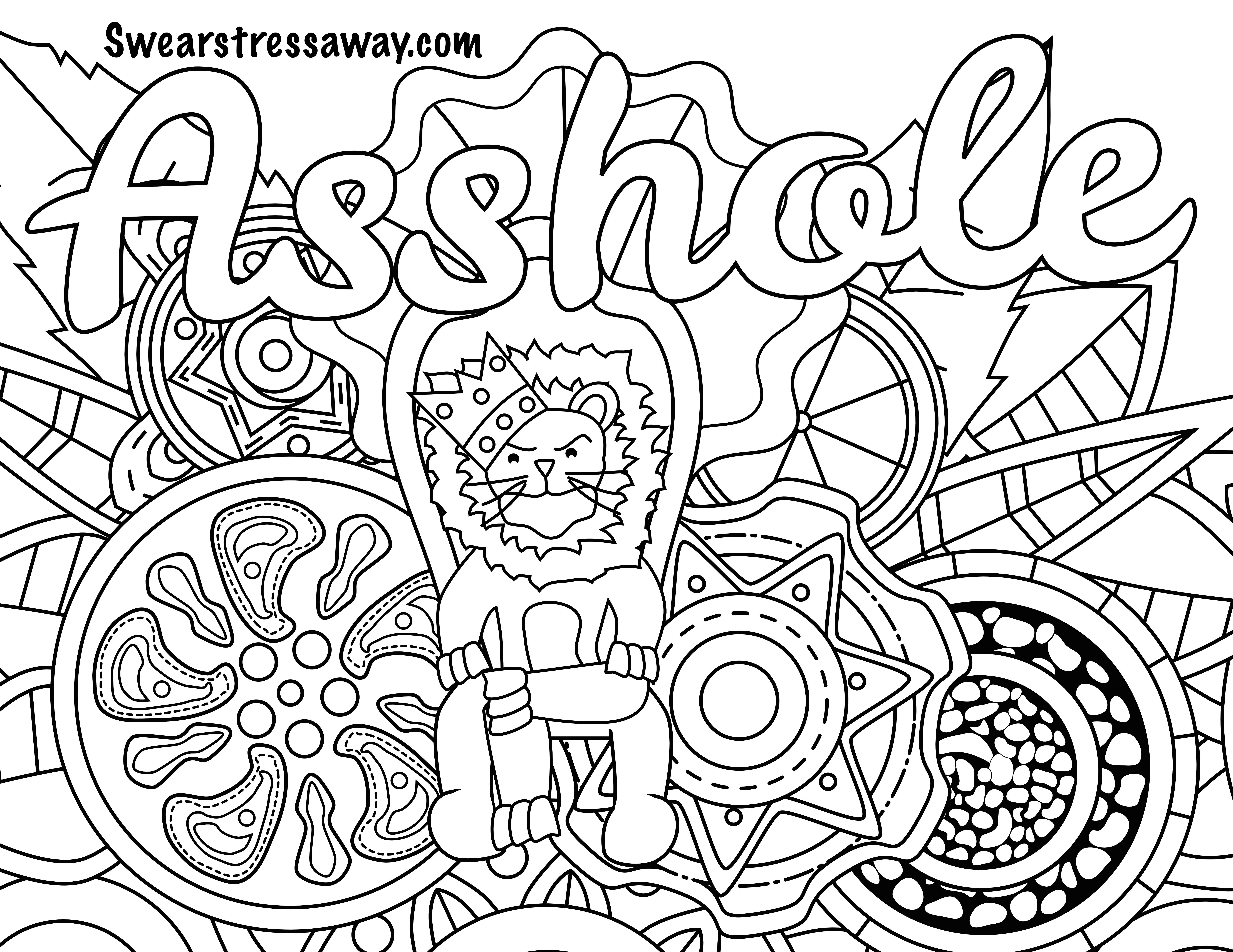 Swaer Words Coloring Page