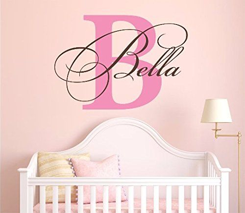 Nursery Custom Name And Initial Wall Decal Sticker 40 W By 28 H Girl Name  Wall Part 37