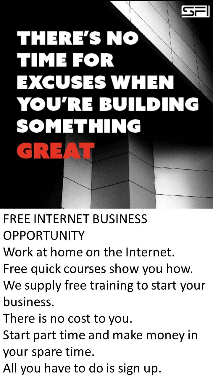 FREE #INTERNET #BUSINESS #OPPORTUNITY Work at home on the Internet ...