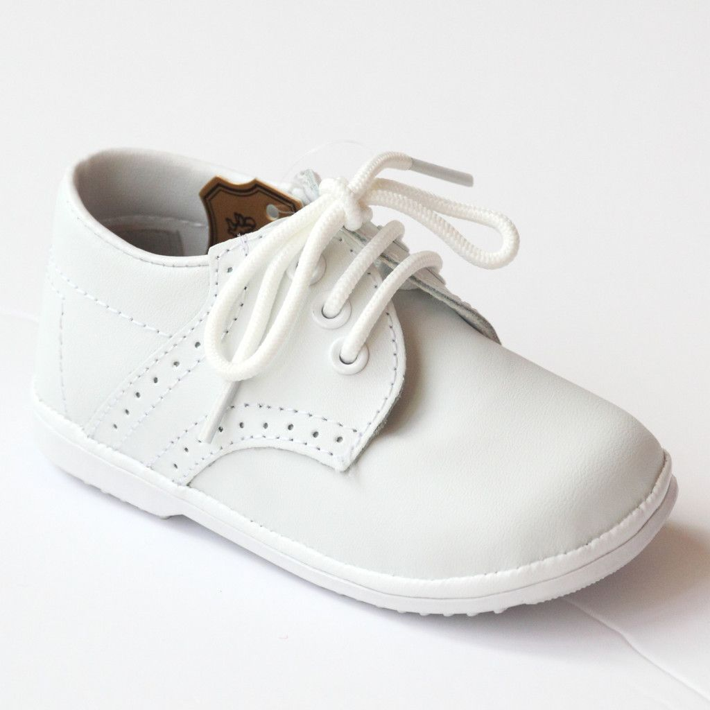 Angel Infant Boys 2157 White Leather Dress Lace Up Oxfords ...