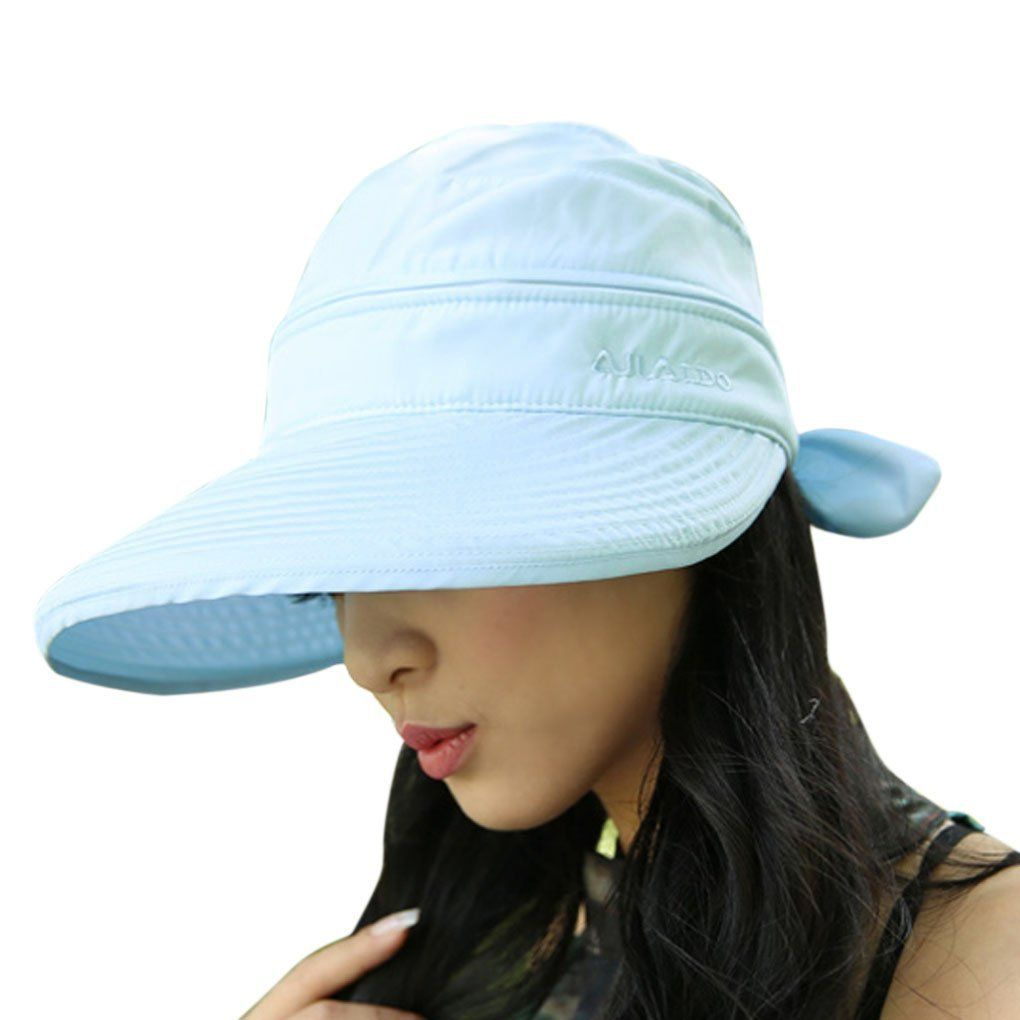 Women Golf Clothing     FakeFace Sun Protective Floppy Wide Brim Beach  Travel Sun Hat Visor Sunhat Blue -- Make sure to look into this awesome  product. 2ba97b063c1