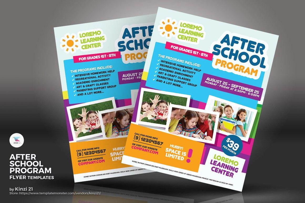 after school program flyer template design flyer design templates