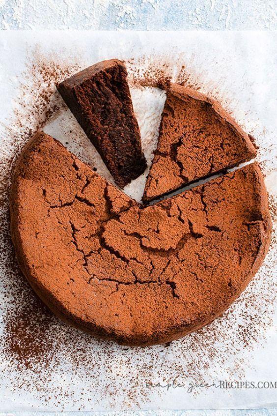 Vegan Flourless Chocolate Cake - Simple Green Reci