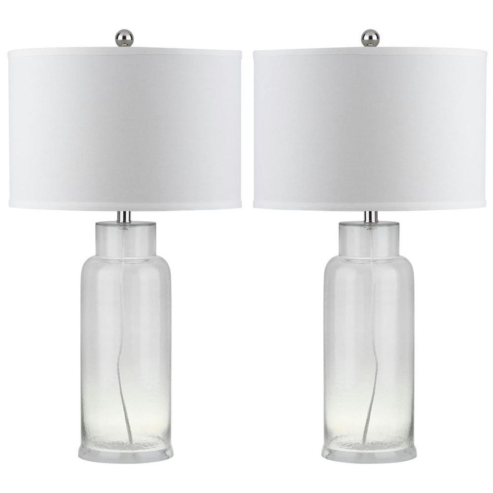 Safavieh bottle 29 in clear glass table lamp set of 2 clear clear glass table lamp set of 2 aloadofball Image collections