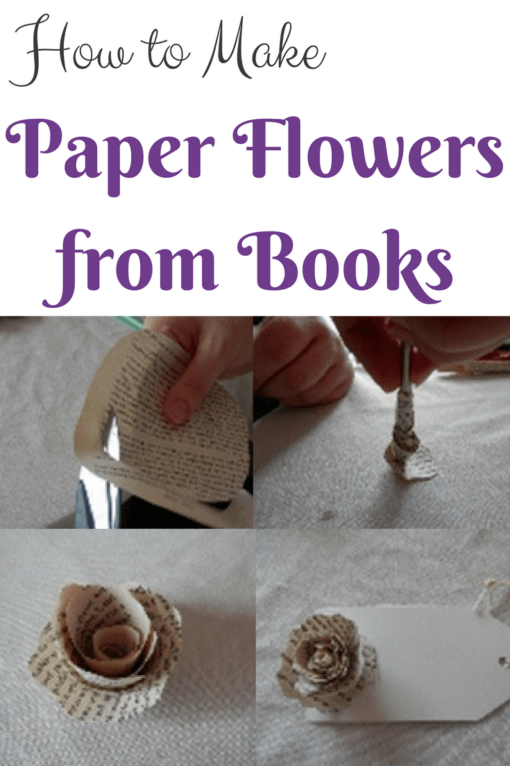 How To Make Paper Flowers From Books Pinterest Flowers Books