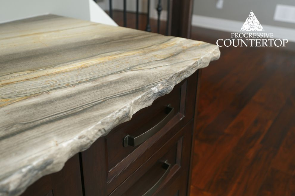 Chiseled Edge On A Sequoia Brown Granite Counter Top
