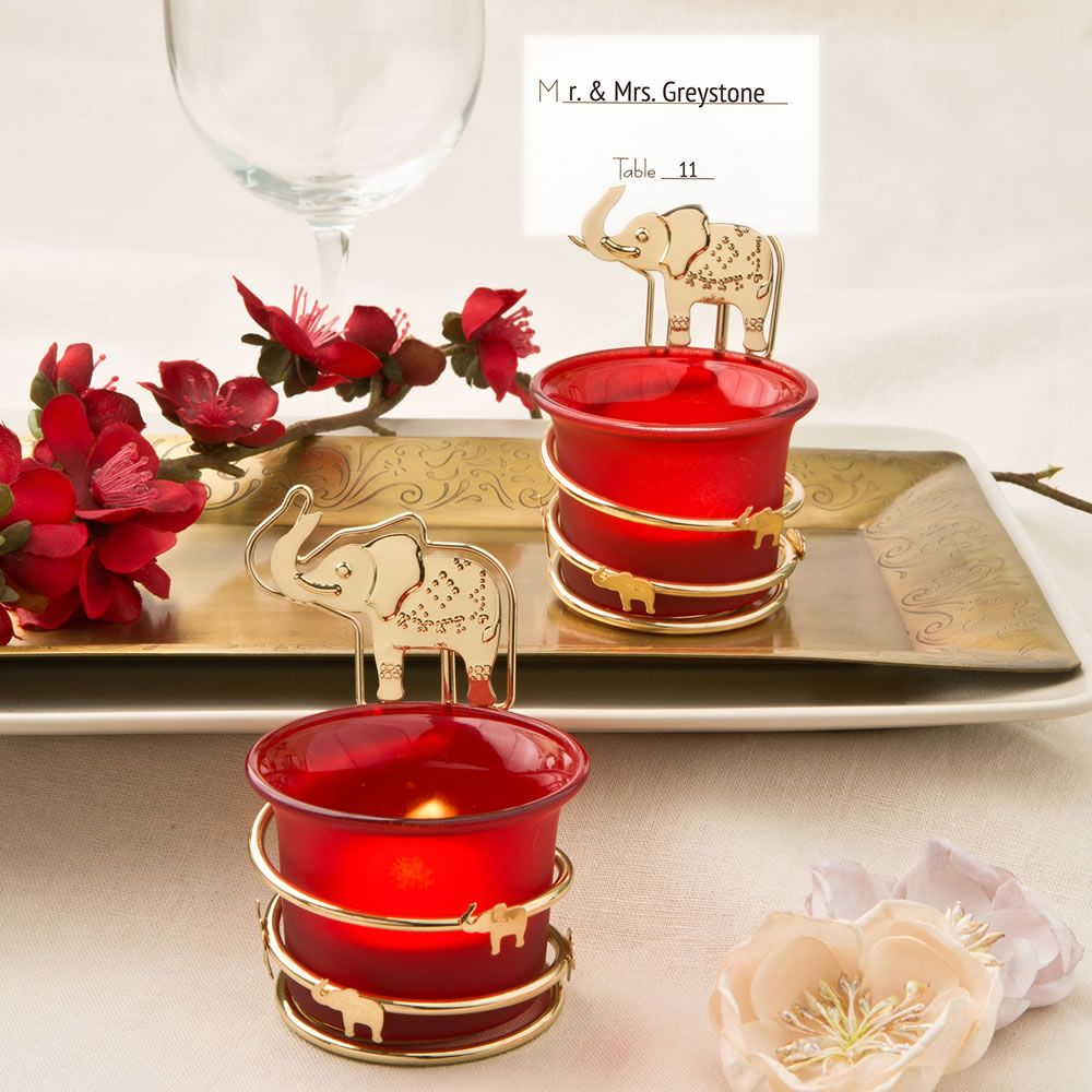 INDIA THEMED CANDLE VOTIVE HOLDER W/ PLACECARD OR PHOTO HOLDER ...
