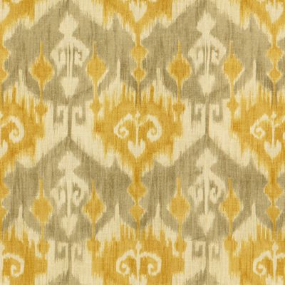 Kass in Yellow from Kravet #fabric #flax #ikat #yellow #grey