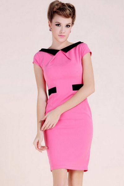 c67a9981f87 Contrast Peter Pan Collar Dress OASAP.com