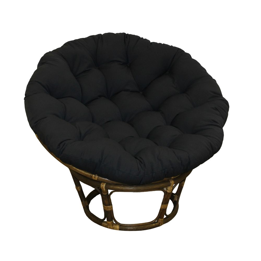 Blazing Needles Papasan 48 Inch Twill Cushion (Black), Size Specialty  (Cotton, Solid Color)