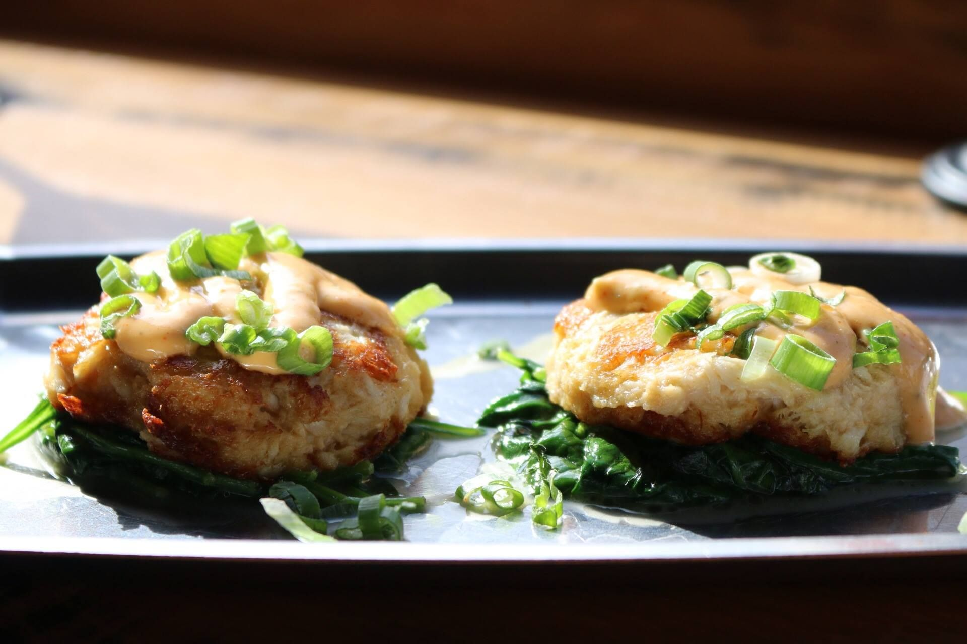 Crab cakes at Gamlin Whiskey House Available on their late night