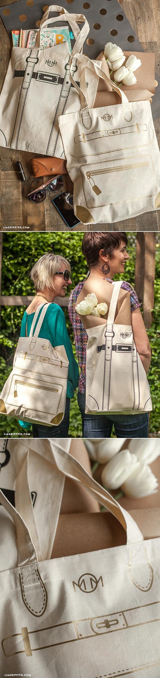 Free cut file #totebags #DIY #handbag at www.LiaGriffith.com