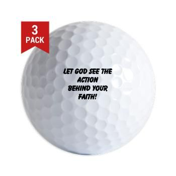 Let God See The Action Behind Your Golf Ball
