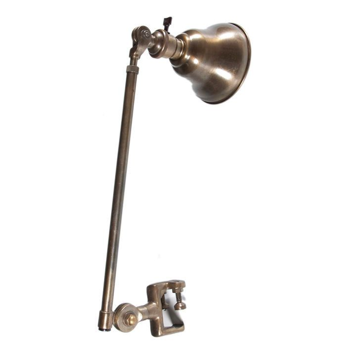 Navy Hospital Bed Clamp Lamp