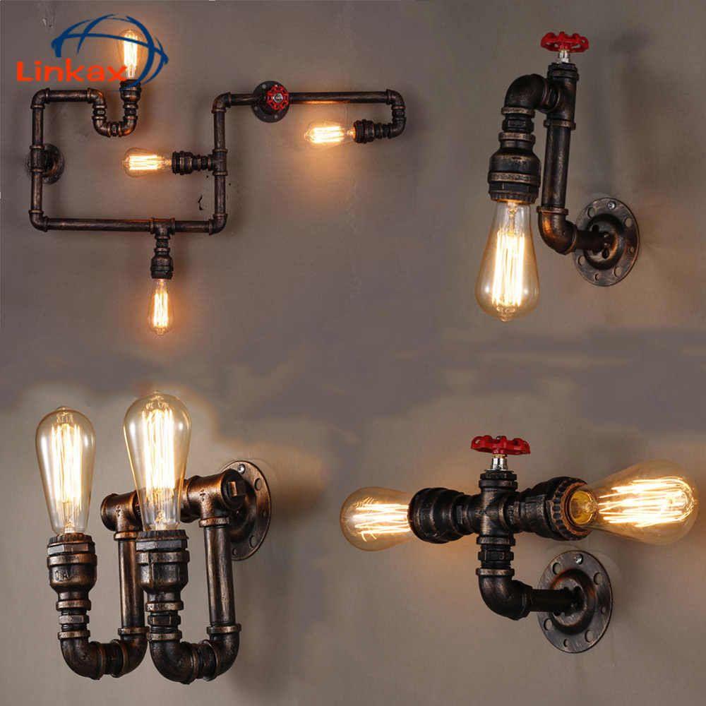 sin bombilla E27 Metal Hierro Forjado Apliques luz de Pared iluminacion industrial L/ámparas Vintage Para la Pared jaula de metal ajustable accesorio lampara retra de casa interior