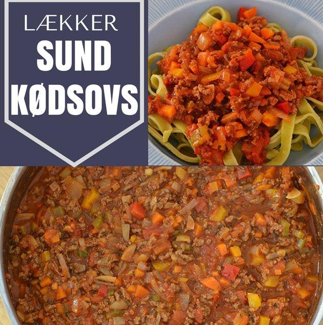 Lækker og tilmed sund kødsovs, der er proppet med grøntsager og masser af smag.