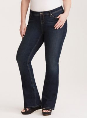 4ee6280924628 Higher-Rise Bootcut Flared Jeans in Dark Wash