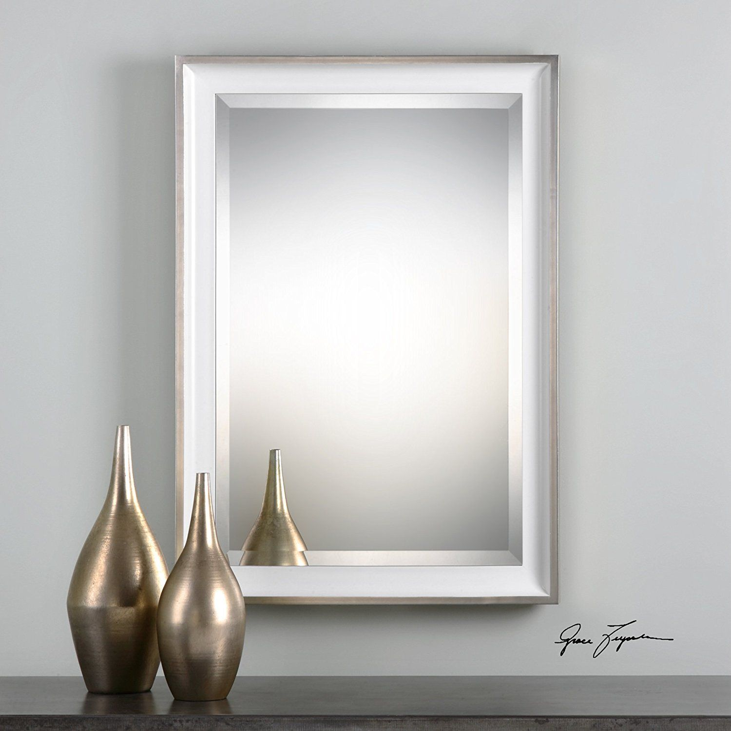 The Uttermost Lahvahn White Silver Mirror ** Read more at the image ...