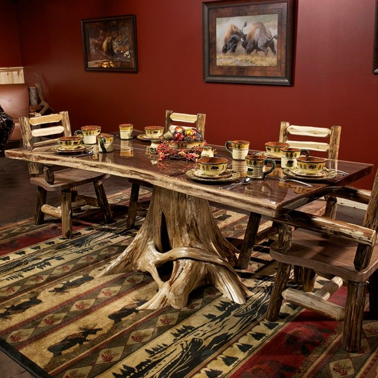 Black Walnut Bookmatched Slab Dining Table In 2019