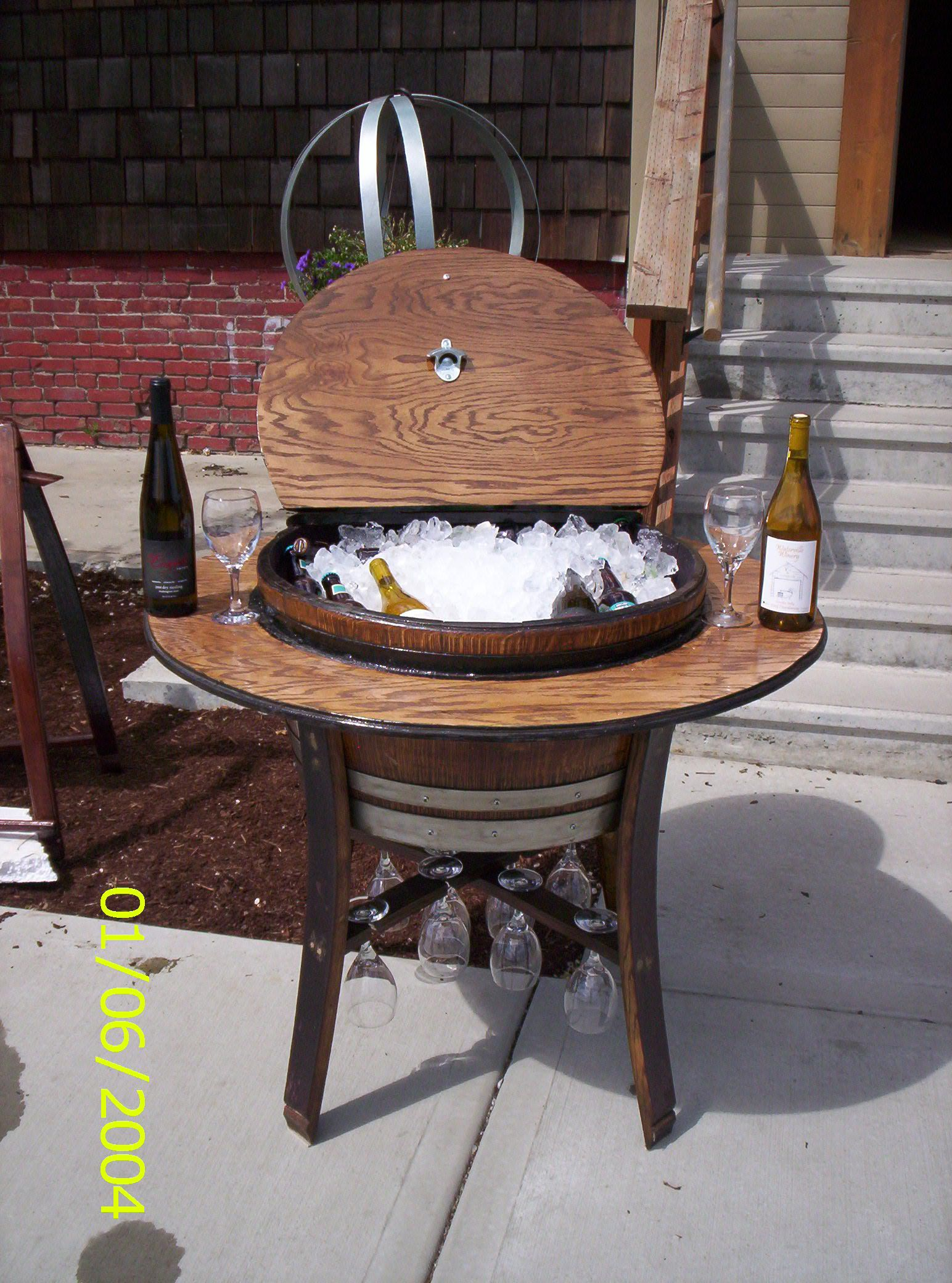 used wine barrel furniture. A Used Wine Barrel Is Here For Ice Chest Bistro Table. Open The Furniture E