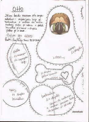 Amor-Perfeito-Amor: Molde cachorro peso de porta