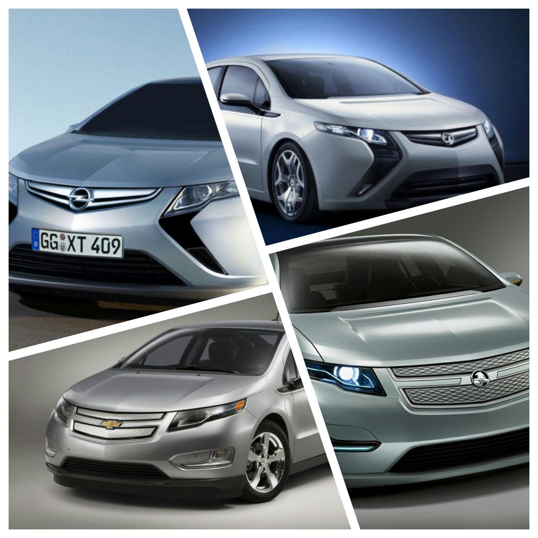 Opel Ampera Top Left Vauxhall Ampera Top Right Chevrolet
