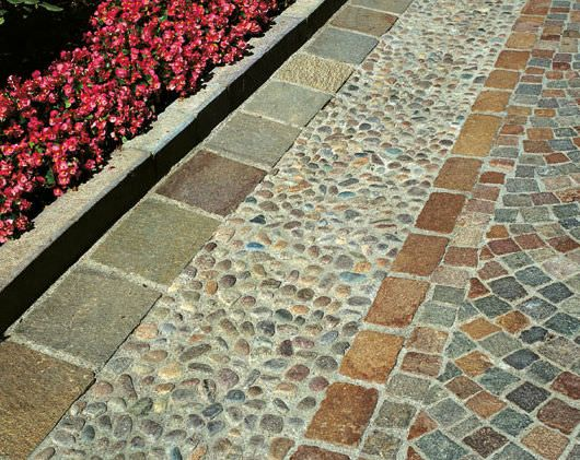 Outdoor Flooring With Pebbles