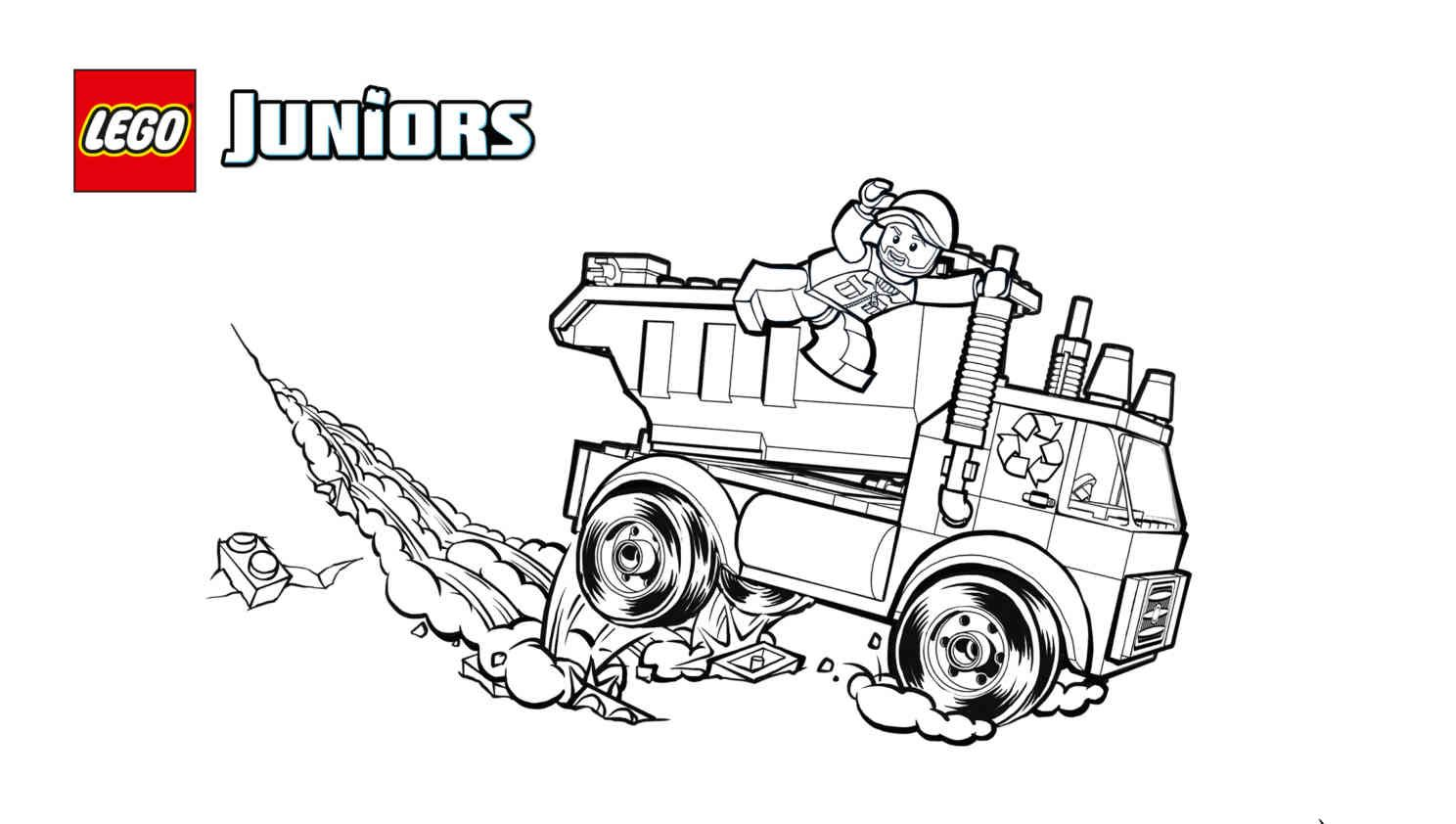 Free coloring pages garbage truck - Lego 10680 Garbage Truck 2 Coloring Sheet