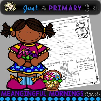 I use this pack as morning work that leads into my morning meeting. I didn't want so much that my students couldn't finish, and I wanted it to cover more than one subject. These are the topics that my students needed more practice with. I did want a concentration on my students writing and reading. I also wanted it to be a predictable outline having reading at the top and math at the bottom.  There are 18 pages of morning work in this pack.