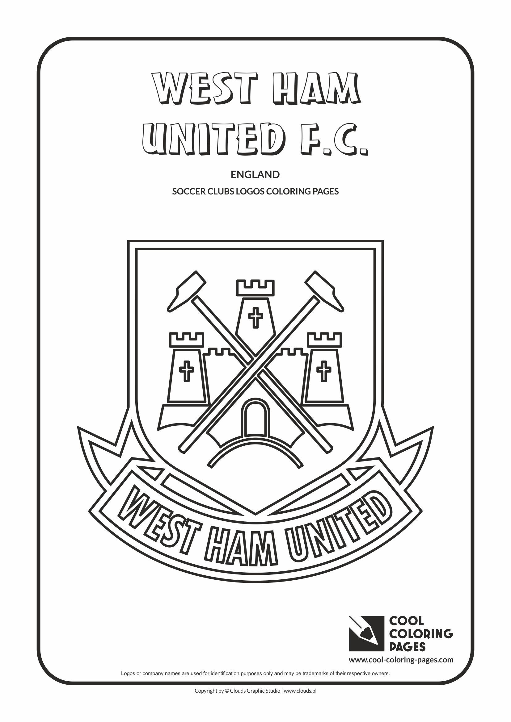 Cool Coloring Pages Soccer Clubs Logos West Ham United FC