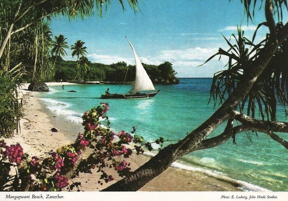 Mangapwani Beach Zanzibar 1970s Billeder