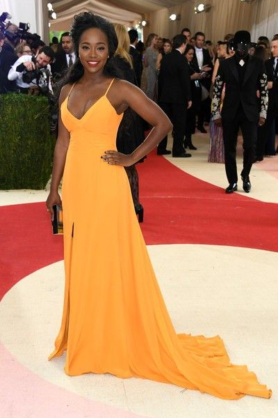 Aja Naomi King Costume Institute Gala 2016 Yellow Dress